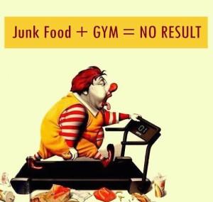junk food gym